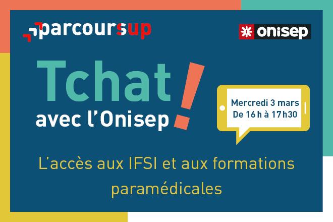 """Mercredi 3 mars (16h-17h30) : Parcoursup : """"L'accès aux IFSI et aux formations paramédicales"""""""
